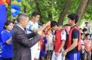 Спортивная акция от от партии «Эмгек» в Оше с участием игрока «Дордоя» Азамата Байматова